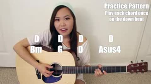 Simple and Easy guitar tutorial by Ellen