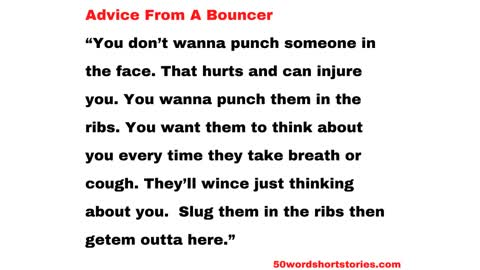 Advice From A Bouncer
