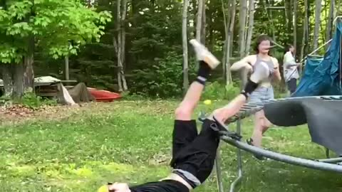 Trampoline Springs Fail Spectacularly