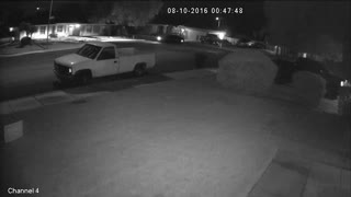Neighbor doing donuts at 1 am in the street!  - Video