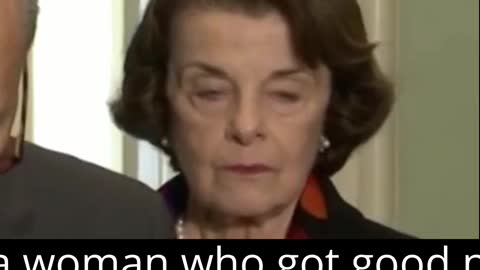 Dianne Feinstein is Sad
