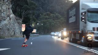 Skateboarding Down Mt. Victoria Pass - Video
