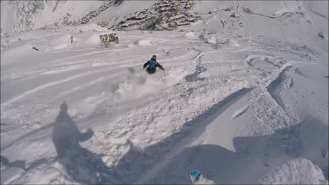 Skiing back flip ends in epic fail