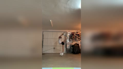 Amazing Moment Teen Skater Pirouettes In Living Room 03