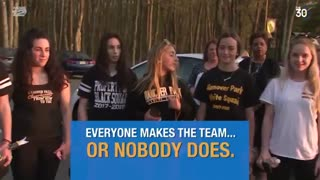 New policy for the cheerleading team angers girls who made the squad.