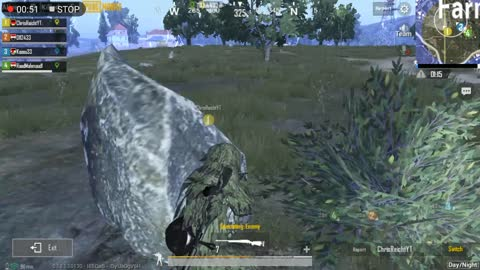 Sniper fast Shoots reactions In pubg game