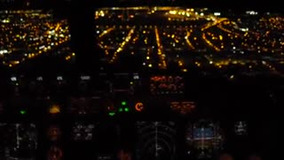 Night landing in Fortaleza filmed from the cockpit