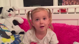Little girl explains what to do in case of