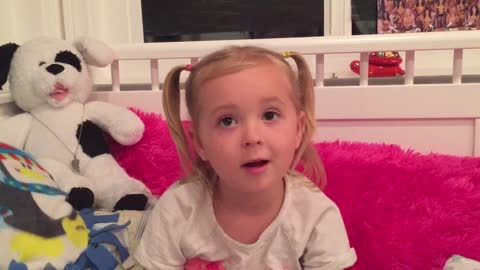 """Little girl explains what to do in case of """"salami"""" emergency"""