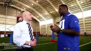 Jason Pierre-Paul Shows Off Mangled Hand In Fireworks Safety PSA - Video
