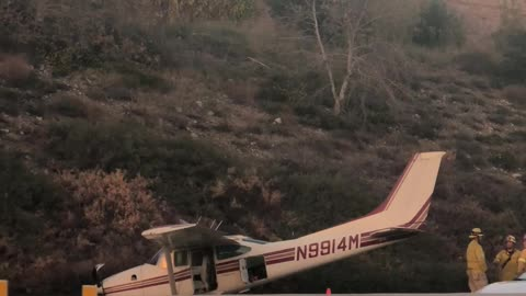 Small Plane Crash on the 210 Freeway