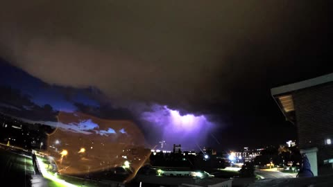 Amazing lightning time lapse