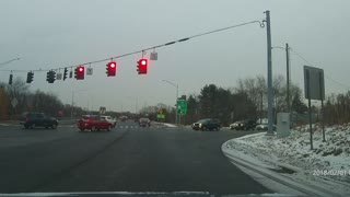 Did driver have time to stop before running the red?  - Video