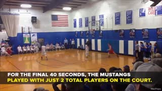 High School Basketball Team Holds On To Win Despite Playing 2 Players - Video