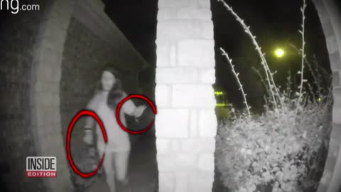 Woman with restraints seen ringing doorbells in the night breaks her silence