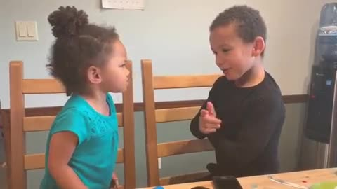 Sibling life perfectly captured in priceless clip