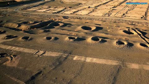 The ancient system of water supply of Persia is seen from space
