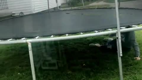 Trampoline with a Trap Door?