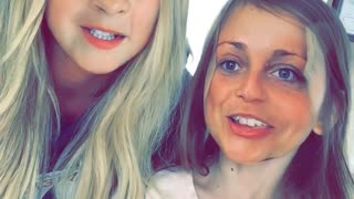 Mom and daughter engage in hilarious face swap