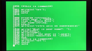 Super Pascal for Commodore 64 on the C64 mini : Ep 02.4
