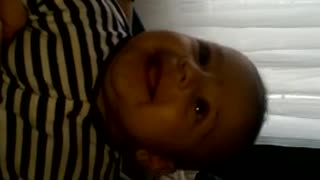 Hilarious baby laughing for the first time - Video