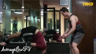 Funny Prank about The Boner In The Gym - Video