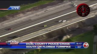 Dangerous High Speed Highway Police Chase... All Over The Road