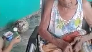 Helping Great Grandma - Video