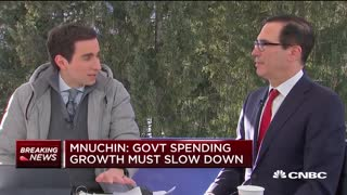 Mnuchin on climate and comments about Thunberg