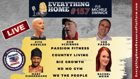 157 LIVE: Passion Fitness, Country Living, Biz Growth, No Mo Gym, We The People + Dr. Simone Gold