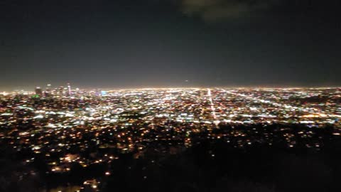 Los Angeles Griffith Observatory night background.