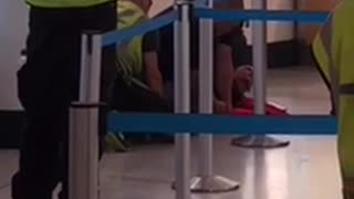 Drunk Lady in Airport Claiming she has Gun - Video