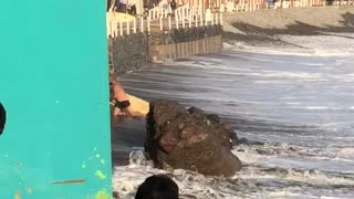 Surfer Gets Unexpectedly Pounded by Waves