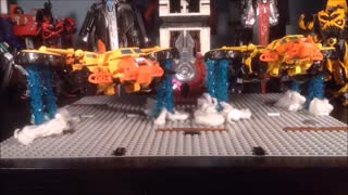 STOPMOTION CiiC Transformers CHUG VOYAGER and OVERSIZED NOT Sandstorm