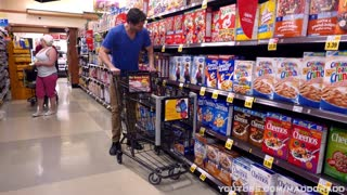 Human robot goes grocery shopping - Video
