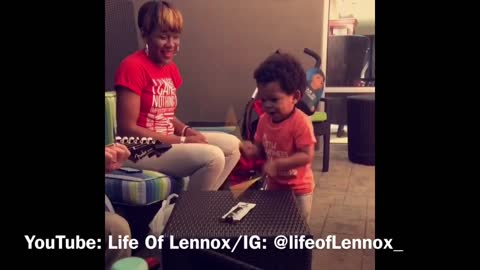 Toddler Shows Off His Drumming Skills