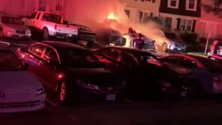 Neighbor Catches Cars on Fire