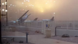 Sandy Winds Blow Aircraft - Video