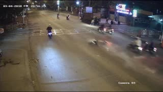Speeding Motorbike Accident