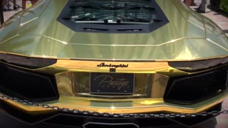 World's first gold plated Lamborghini Aventador LP700-4 - Video