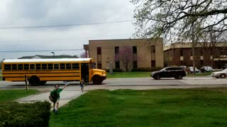 Drivers Pass School Bus When Flag is Up