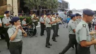 """""""Smoke on the Water"""" by the army's band"""