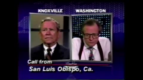 Tara Reade's Mother Called Larry King Live on August 11, 1993 about Problem with Prominent Senator