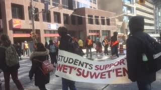 Protest in Toronto in support of Wet'suwet'en First Nation People of British Columbia, Canada