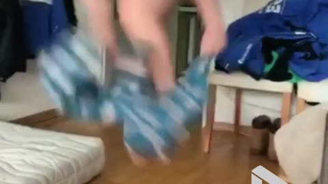 Jumping into your pyjamas like a boss