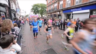 Fancy dress fills the streets for Stafford 10k - Video