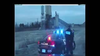 Police Pursuit Goes Industrial... Rollover...