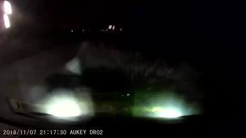 Driver Causes Car to Drive Into Watery Ditch