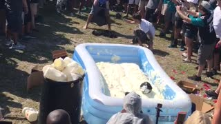 Mayonnaise Belly Flop Contest