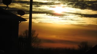 Jan 8th Sunset in Highspeed  - Video